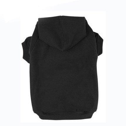 BINGPET Blank Basic Cotton/Polyester Pet Dog Sweatshirt Hoodie BA1002, Black Extra small
