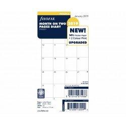 Filofax/ /Agenda con inserto mese su 2/pagine Untabbed personale 2019