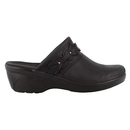 CLARKS Women's Marion Coreen Clog, Black Leather, 080 M US