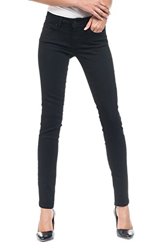 nera Push jeans Black cintura Wonder True Salsa Nero media Up Pantaloni qzHtxt