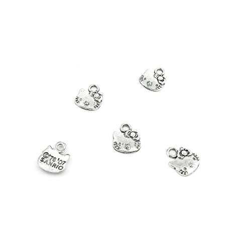 40 Pcs Jewelry Making Charms UOQ04 Hello Kitty Antique Silver Fashion Finding for Necklace Bracelet Pendant Crafting Earrings