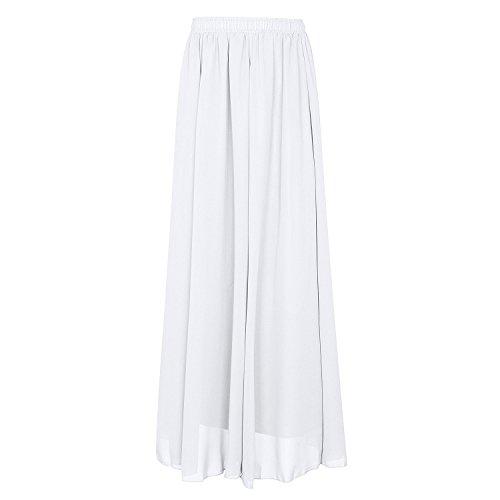 CoutureBridal 90cm Jupe Blanc Elastic Jupe longue d't Femme Ceinture Chiffon rZHB8r