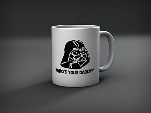 Best funny Star Wars Mug - Who's Your Daddy? (Darth Vader) - 11 ounces coffee mug - By Miracle(Tm) -