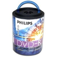 Philips Branded 16X DVD-R Media 100 Pack in Spindle with Han