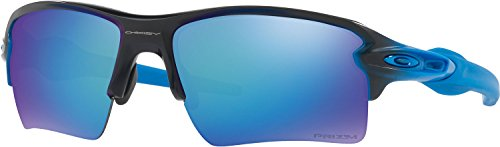Oakley Men's Flak 2.0 Xl Polarized Iridium Rectangular Sunglasses, Sapphire Fade, 59 - Polarized Oakleys