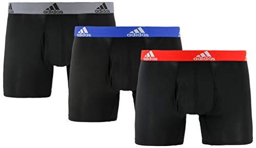 adidas Men's Climalite Trunks Underwear (3-Pack), black, X-Large ()