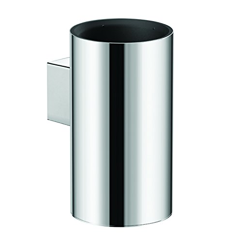 COSMIC Architect Bathroom Single Tumbler Toothbrush Holder, Wall Mount, Stainless Steel Cup, Chrome Finish, 2-7/16 x 5-1/4 x 3-7/16 Inches (2050153) by DAX
