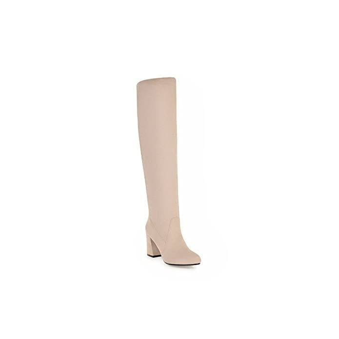 Sandalette-dede Fashion High Heeled Boots Rough Knee Boots