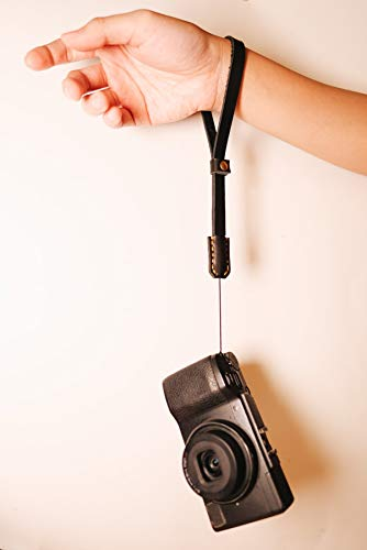 ERIC Kim Strap - Handmade Premium Leather Camera Wrist Strap, Fits Ricoh GR
