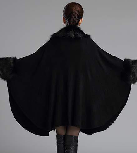 Abrigo Mujer Para E5qwRd Negro amp; Capa Plaer 15WqF0w