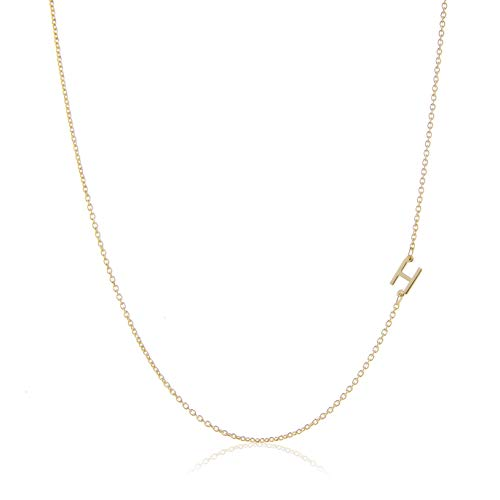 Deidreamers Side Mini Initial 14k Gold Over Sterling Silver Necklace H
