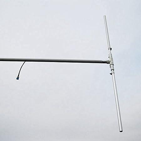 FMUSER DP-100 1/2 wave dipolo de FM Antena para 0 – 150 W alta ganancia al aire libre dipolo antena + 8 meter RG58 Cable