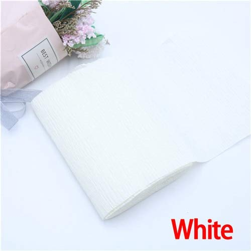 Water Hep Crepe Paper 25010cm Decorative Origami Crinkled Crepe Paper Craft DIY Flower Wrapping Fold Scrapbooking Gifts Party Decoration(White) ()