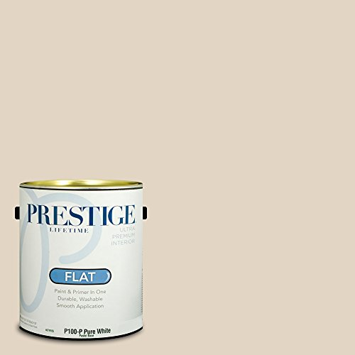 - Prestige Paints Interior Paint and Primer In One, 1-Gallon, Flat,  Comparable Match of Benjamin Moore Brandy Cream