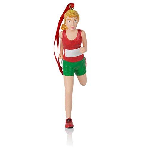 Gone For a Run Runner Girl Figure Christmas Ornament | Running Ornaments (Runner Christmas Ornament)