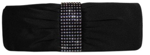 Stilvolle Abendtasche/ Clutch-Tasche,26x9 cm,Schwarz