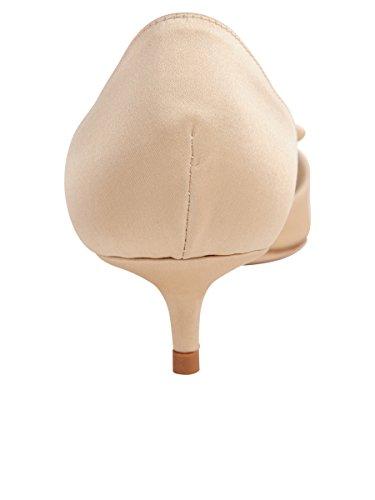 Burro Scarpe Donna Cliff Pump Nude Satin