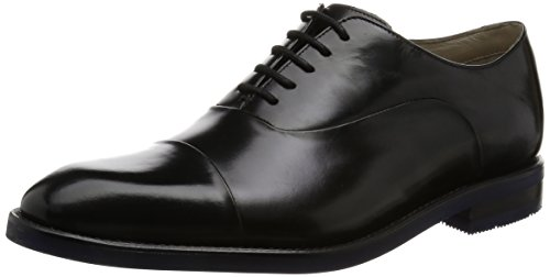 CLARKS Clarks Mens Shoe Swinley Cap Black Leather black