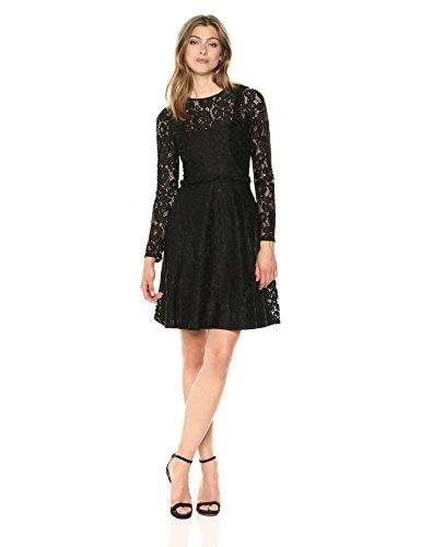 Wild Meadow Women's Victorian Inspired Lace Dress M Black -
