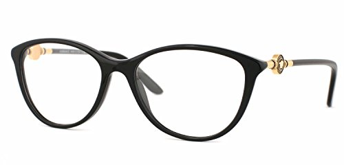 Versace Women's VE3175 Eyeglasses Black - Prescription Versace Glasses
