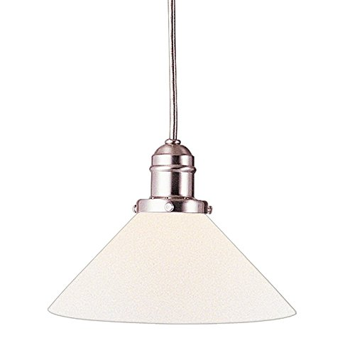 - Vintage Collection 1-Light Pendant - Satin Nickel Finish with Opal Matte Glass Shade