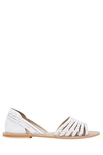 next Mujer Sandalias Semicerradas Cuero Trenzado Corte Regular Zapatillas Calzado Blanco