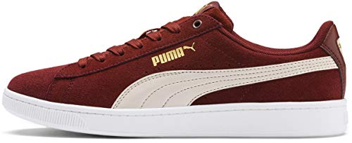 PUMA Women's Vikky Sneaker, Fired Brick-Pastel Parchment Team Gold White, 6 M US