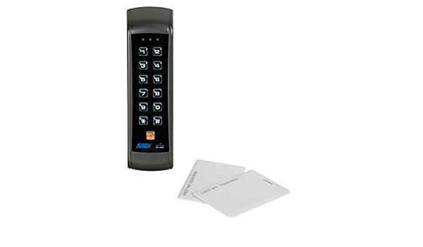 Velleman HAA2890 - Bloqueo de código digital con lector de tarjetas, dos relés, resistente a la intemperie