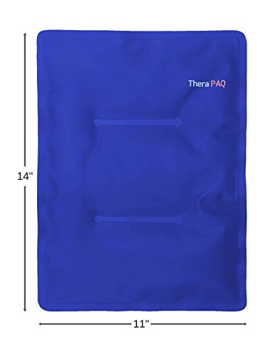 Large Gel Ice Pack by TheraPAQ: Reusable Hot & Cold Pack for Your Hips, Shoulders, Back, Arms, Legs, Knees - Refreezable & Microwavable Gel Pad for Pain Relief & Faster Injury Recovery (XL 14
