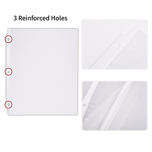 ktrio sheet protectors 3 hole office clear plastic page With sheet protectors letter size