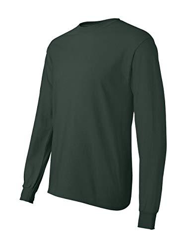 Hanes Men's ComfortSoft Long Sleeve T-Shirt,Deep Forest, Size - XL