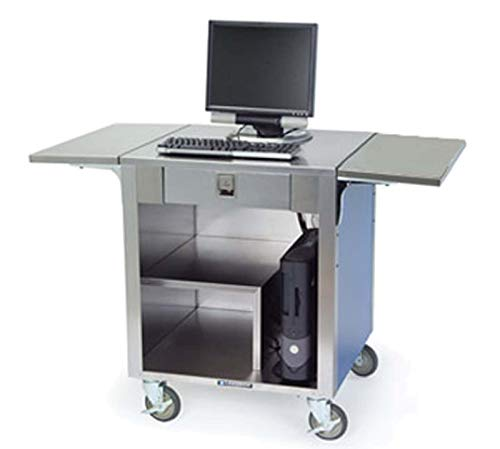 Lakeside Cashier Stand w/ S/S Top - Interior - 2-Fold Down Tray Slides