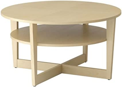 IKEA VEJMON - Mesa de centro, chapa de abedul - 90 cm: Amazon ...