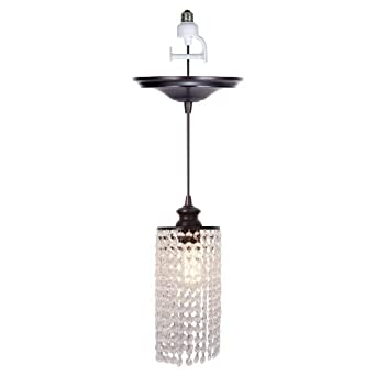 screw in pendant lighting. Worth Home Products Instant Screw In Pendant Light With Clear Glass Shade Lighting N