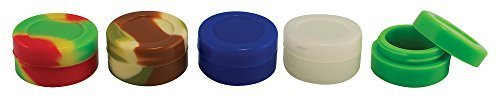 100x Assorted Colors Non-stick Silicone Oil Wax Dab Jar Container by Generic