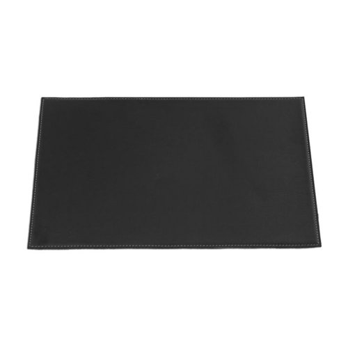Dacasso-Black-Leatherette-17-x-12-Square-Corner-Placemat
