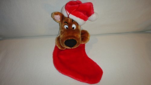 CARTOON NETWORK SCOOBY-DOO ANIMATED CHRISTMAS STOCKING PLUSH, SCOOBY DOO SINGING X-MAS STOCKING