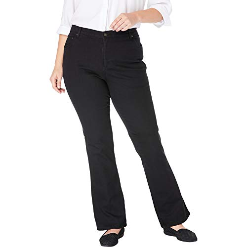 Woman Within Women's Plus Size Bootcut Stretch Jean - Black Denim, 22 W ()