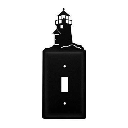 Iron Lighthouse Switch Cover - Heavy Duty Metal Light Switch Cover, Electrical Outlet Covers, Lightswitch Covers, Wall Plate (Lighthouse Switchplate Cover)