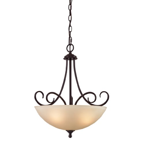 (Cornerstone Lighting 1103PL/10 Chatham 3 Light Pendant, Large, Oil Rubbed Bronze )