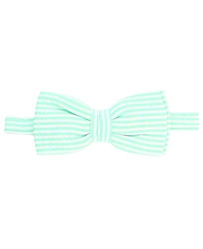 RuggedButts Infant / Toddler Boys Striped Seersucker Bow Tie - Mint Seersucker - 0-24m