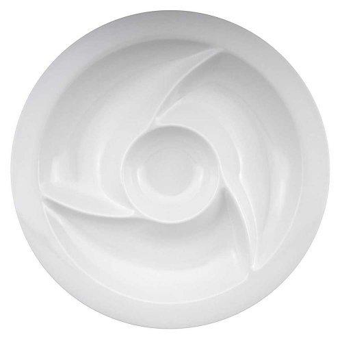 Zak Designs White Pinwheel Chip n Dip Home Supply Maintenance Store