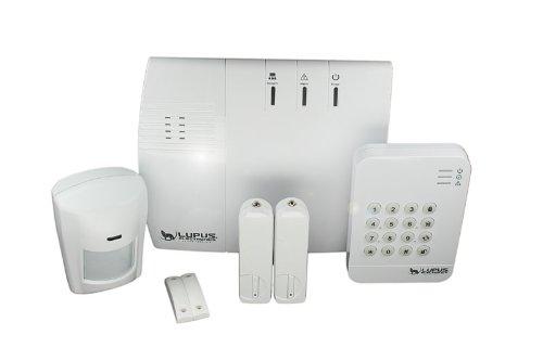 Lupus Electronics LUPUSEC XT1 SmartHome Funk Alarmanlage Starter Pack, Zentrale, Keypad, 2 Türkontakte, 1 PIR Melder, Sicher informiert! Überall. Jederzeit., 12017