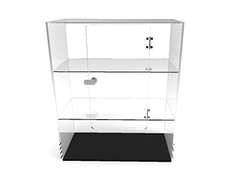 FixtureDisplays Clear Plexiglass Acrylic Cabinet Display Case for Jewewlry, Cell Phone, Valuable 14604 14604!