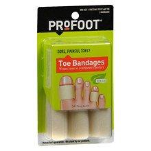 - Profoot Care Toe Bandages, Medium, 4
