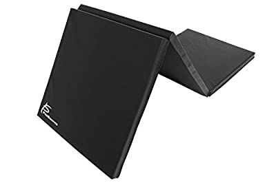 ProSource Fit Tri-Fold Folding Thick Exercise Mat 6'x2' with Carrying Handles for MMA, Gymnastics, Stretching, Core Workouts