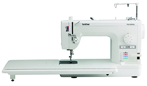 Brother Quilting and Sewing Machine, PQ1500SL, High-Speed Quilting and Sewing, 1500 Stitches Per Minute, Automatic Needle Threader, Retractable Drop Feed Dog Control (Home Embroidery Needles Machine)
