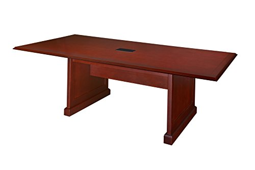 Regency Prestige 96 by 48-Inch Conference Table with Power Data Grommet, Mahogany