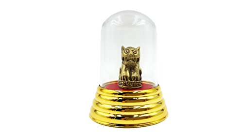 [Brassy statue magic yantra tiger of lp Pratueng thai mini brass talisman life protection with amulet case] (Goddess Of Romance Adult Costumes)