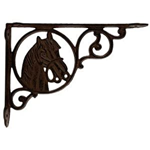 aunt chrisu0027 products heavy cast iron horse shelf bracket wall mount indoor or outdoor use old western primitive design
